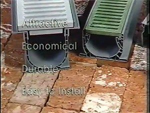 Every home needs a #drainage system. #Channel drains by #NDS help to remove large amounts of water from hardscapes such as patios and driveways. -- Source 1 Drainage Products available at #HomeBegins