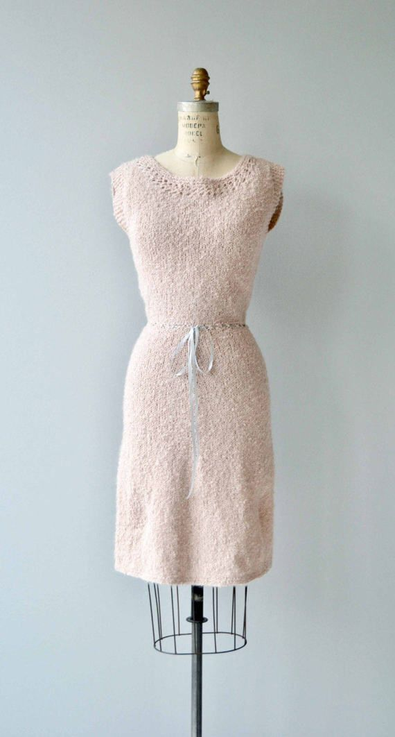 Vintage 1950s super soft wool & angora knit dress with cap sleeves, ribbon belted waist and slinky shape. Not itchy! --- M E A S U R E M E N T S --- fits like: xs/small bust: 37 waist: 24-26 hip: 38 length: 39 brand/maker: n/a condition: excellent to ensure a good fit, please read the sizing guide: http://www.etsy.com/shop/DearGolden/policy ✩ layaway is available for this item ✩ more vintage dresses ✩ http://www.etsy.com/shop&#x2...