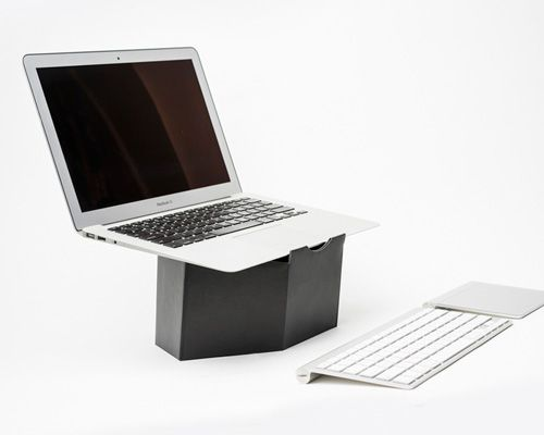 pillar: a portable and collapsable cardboard laptop stand by sruli recht