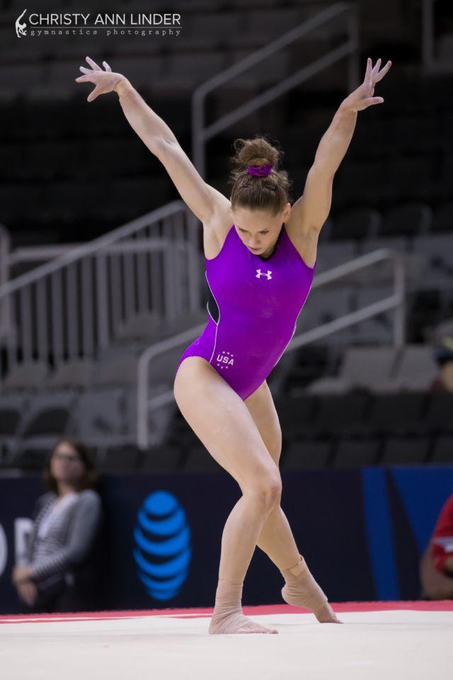 Rachel Gowey on floor