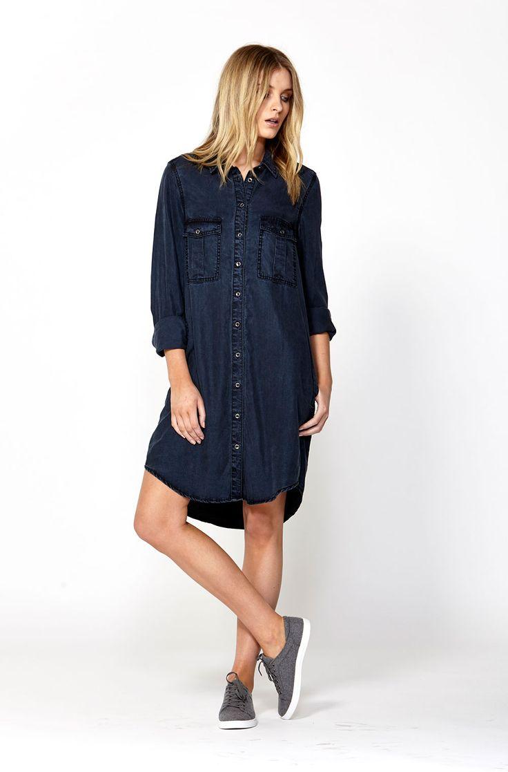 The best of what's new! Shop the Erin Denim Shirt Dress in stores and online now www.decjuba.com.au @Decjuba
