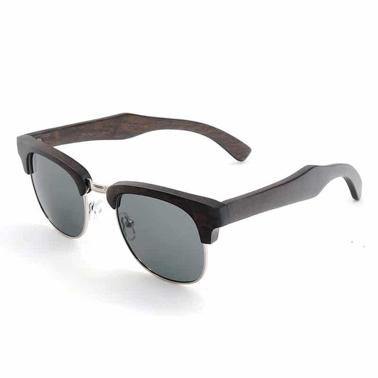 Hölzerne Sonnenbrille Retro Bambus Männer Frauen Polarisierte Sonnenbrille,B6