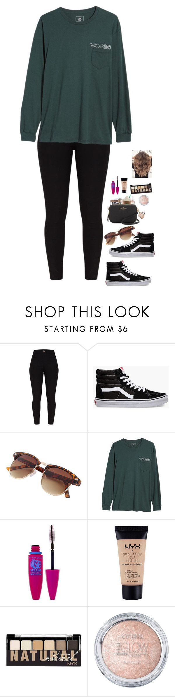 """""""hanging out w/ bestie!!!"""" by totallyelizabeth ❤ liked on Polyvore featuring Vans, Maybelline, NYX, besties and BestFriends"""