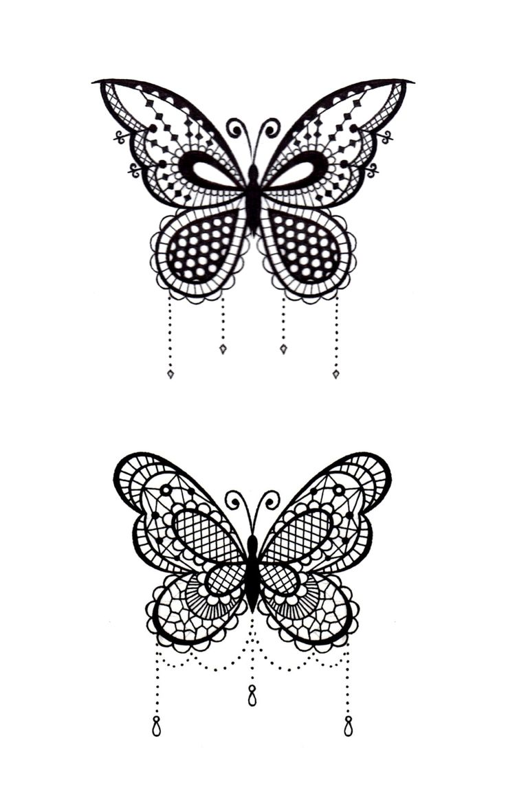 Beau Lace Butterfly Tattoo   Google Search
