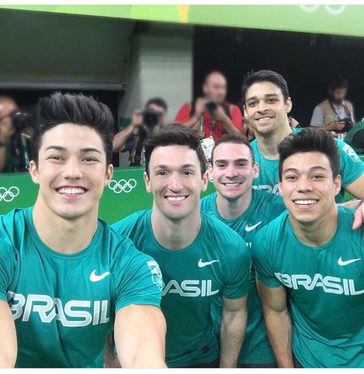 Arthur Nory and the beautiful men of the Brazil Men's Gymnastic Team 🇧🇷❤️🇧🇷❤️