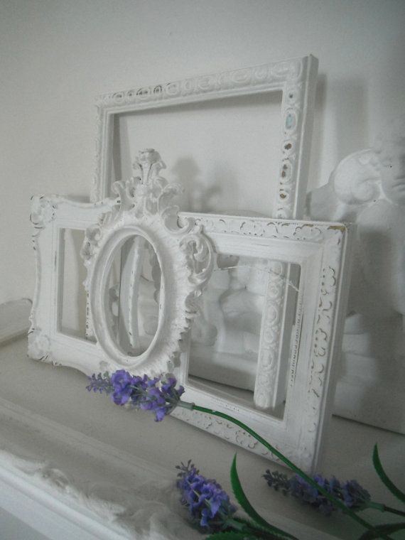 white picture frames shabby chic nursery decor french country ooak photo frames rustic home. Black Bedroom Furniture Sets. Home Design Ideas