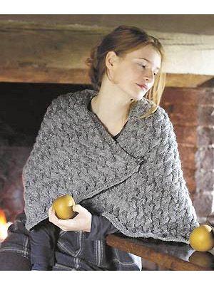 Knit a cosy wrap: #free #knitting pattern