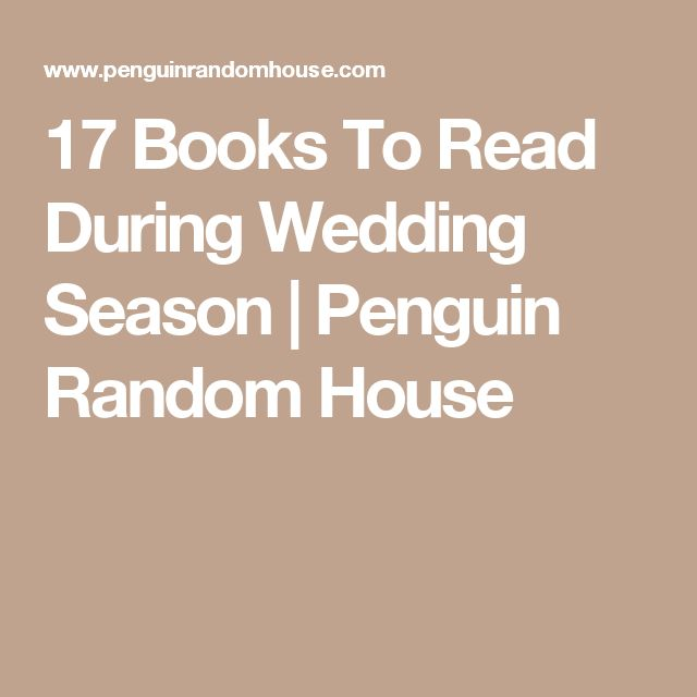 17 Books To Read During Wedding Season | Penguin Random House