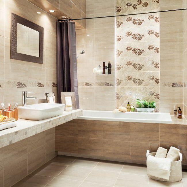 Gres Szkliwiony Pinia Arte 33 3 X 33 3 Cm Bezowy 1 33 M2 Gres House Alcove Bathtub Home