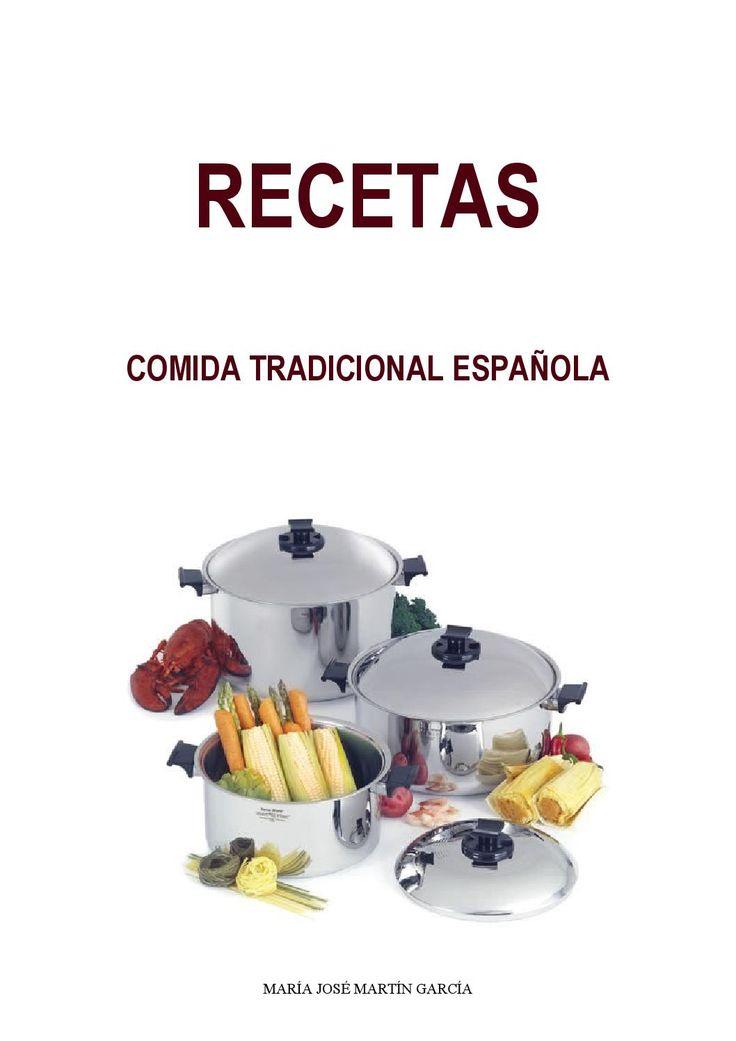 RECETAS DE COCINA TRADICIONAL Taller para iniciados en cocina española.