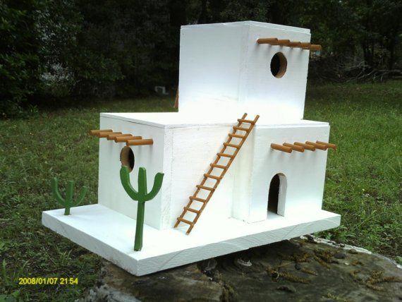 Cedar Adobe Birdhouse