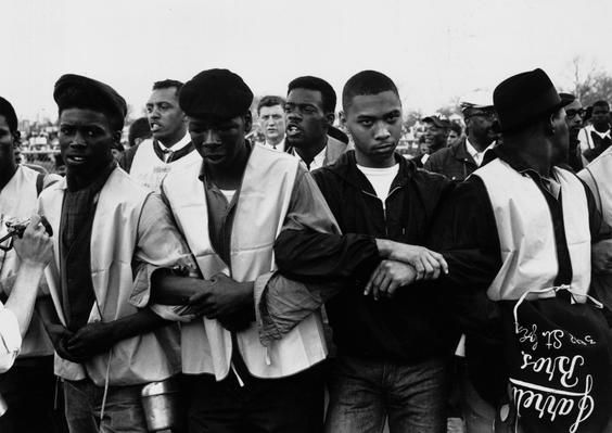 MONTGOMERY, Ala. — In March 1965, participants in a march for black voting rights march in Alabama. Dr Martin Luther King led the march from Selma, Ala. to the state capital in Montgomery.