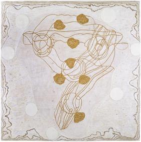 Marika Mäkelä: Falling Roses, 2009, oil on wood, 168 x 168 cm