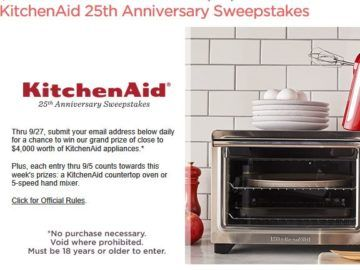 QVC, Inc. KitchenAid 25th Anniversary Sweepstakes