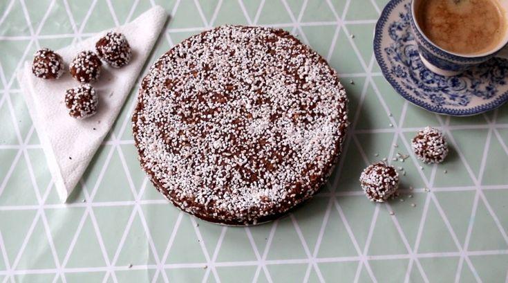 Chokladboll + kladdkaka = ❤️