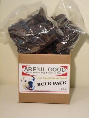 Beef Liver Treats Bulk Box 2kg, $77.99, www.arfulgood.com