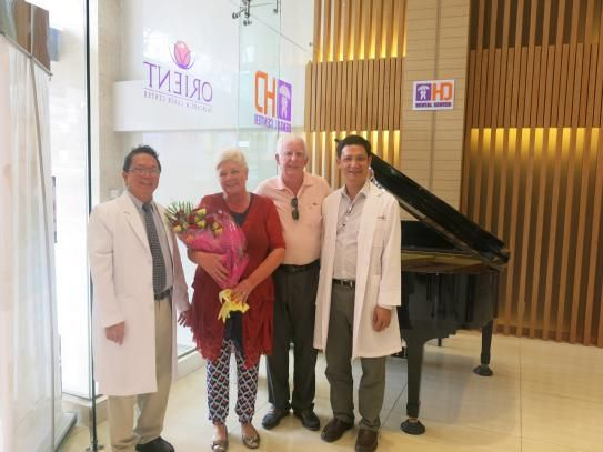Dr Hung & Associates Dental Center congratulates patients on their 45th year Wedding Anniversary.