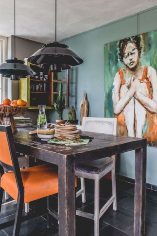 """This vivid dining area is from our feature """"True Colours"""""""