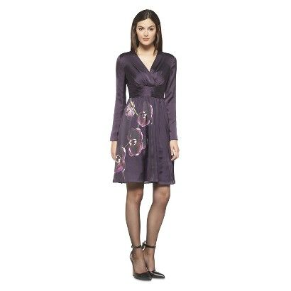 Altuzarra for Target Satin Dress Orchid Print- Purple