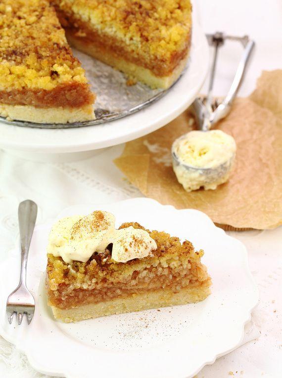 Szarlotka z lodami #słodkości #smakołyk #deser #energia #ciasto #jabłecznik #lody #POLOmarket
