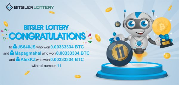 Congratulations to everyone who won today 😳 with a shared prize of 0.01 BTC ($176) ! The next one will take place @ btslr.co/IZ9JC   #winners #bitcoin #lottery #dice #Hattrick  -- bitsler.com