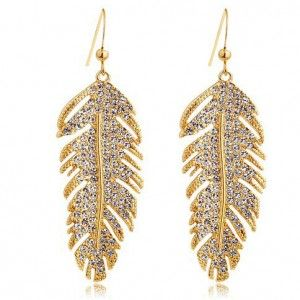 Golden Leaf Austrian Crystal Earring