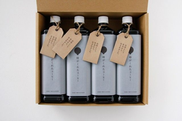 """5/8 - Infini Coffee - """"It's time for the gifted coffee."""" #japanese #package #design"""