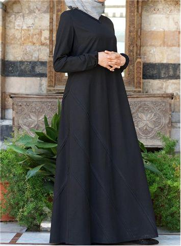 SHUKR International | Applique Pleated Dress
