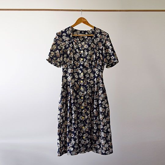 Made By Mee + Co | Navy Floral Dress
