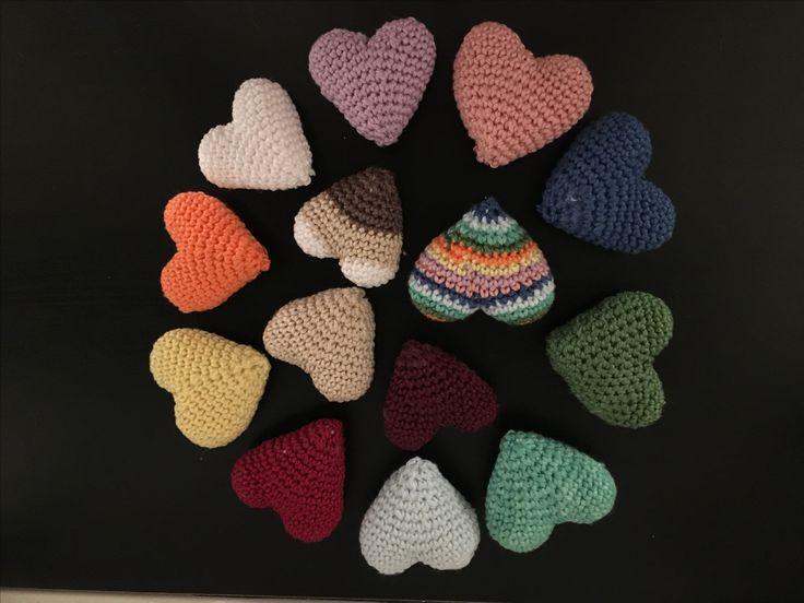 Crochet hearts 😍