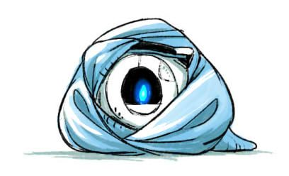 Wheatley in a blanket