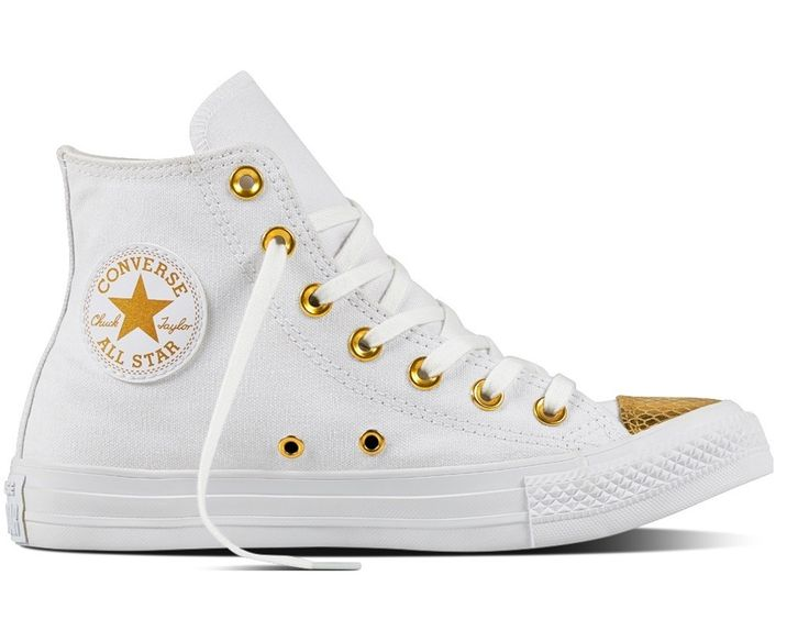 Sneaker Converse All Star 555813c ctas hi white gold summer 2017