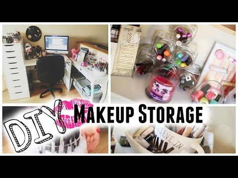 7 DIY Makeup Storage/Organizers -  Wow talk about some good easy ideas on how to make some makeup holders!!