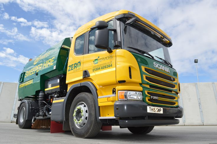 Pretty nice angle of our new Scania road sweeper. Road sweeper now available for hire!