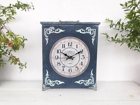 Check out this item in my Etsy shop https://www.etsy.com/listing/553490139/table-clock-shabby-home-decor-handmade