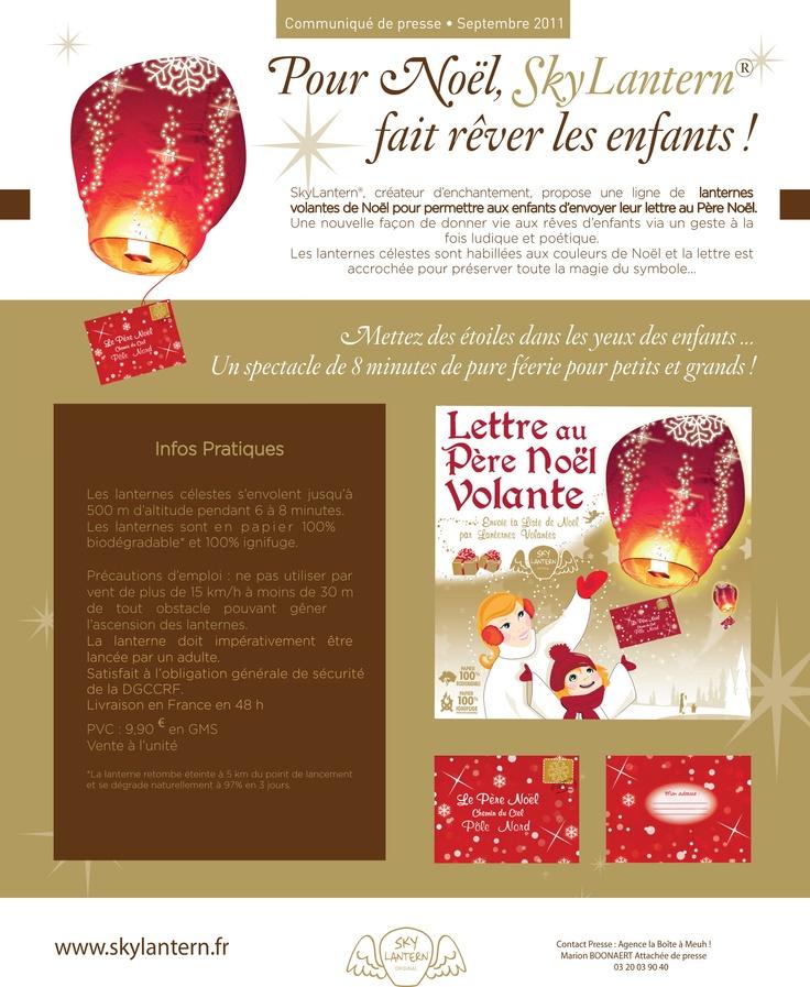 La lettre volante pour Le Père Noël : SkyLantern envoie les souhaits des enfants !