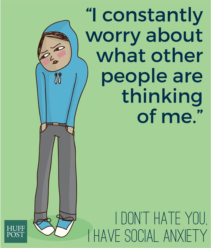 I Don't Hate You, I Have Social Anxiety | Huffpost Healthy Living, July 23, 2015