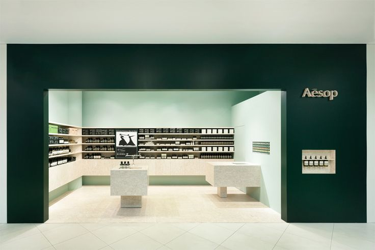 Aesop - aesthetic, branding and architectural detailing to compliment their product
