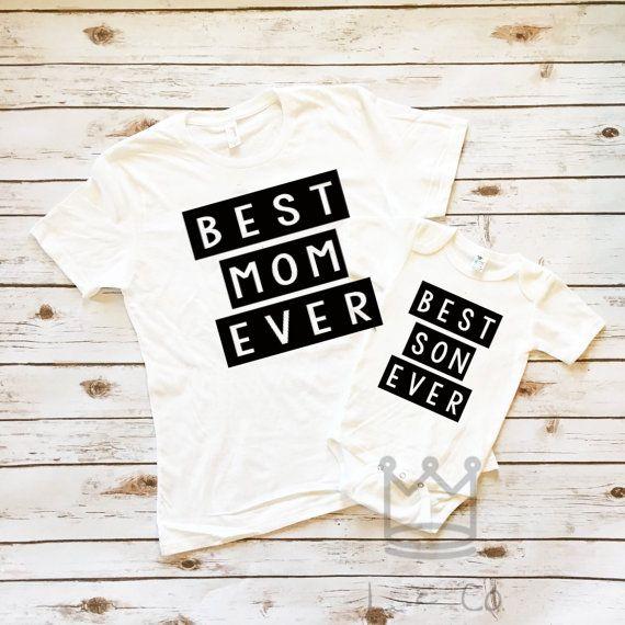 Coincidentes trajes del hijo de madre / madre y el bebé que mamá y yo trajes o camisas de hijo / coincidencia regalo de trajes/mujer