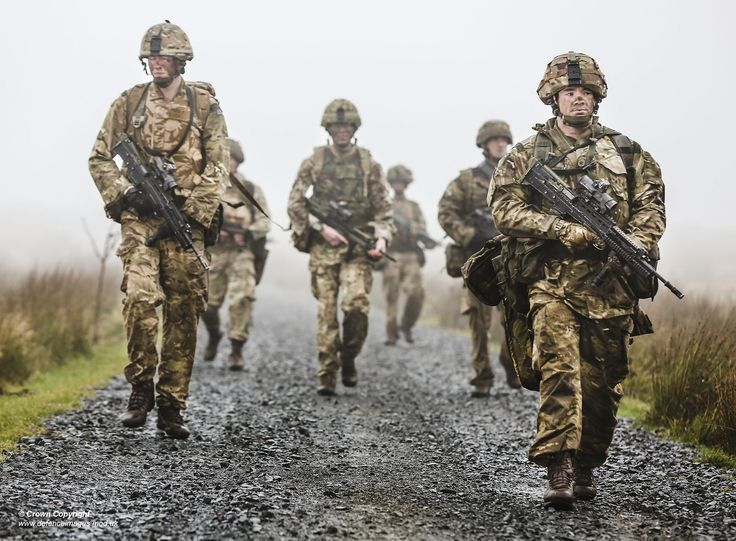 Members of 34 Squadron RAF Regiment movind along a track whilst undertaking Live Firing Tactical Training | by Defence Images