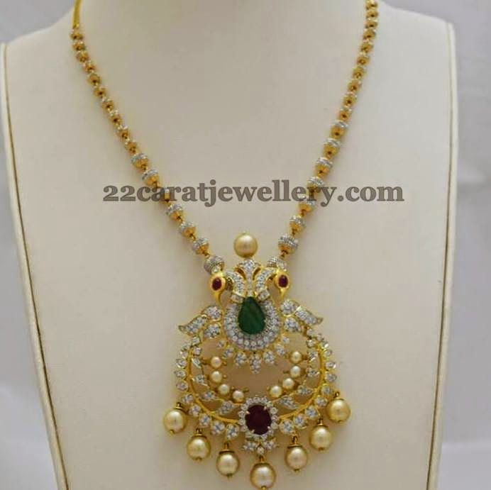 Jewellery Designs: Fancy Diamond Set by Totaram Jewellers