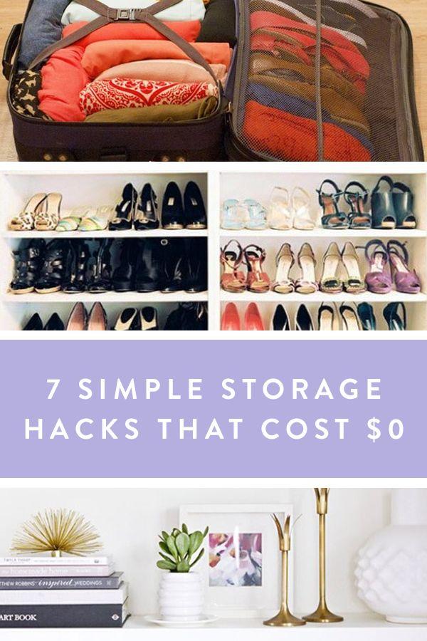 7 Simple Storage Hacks That Cost $0 via @PureWow