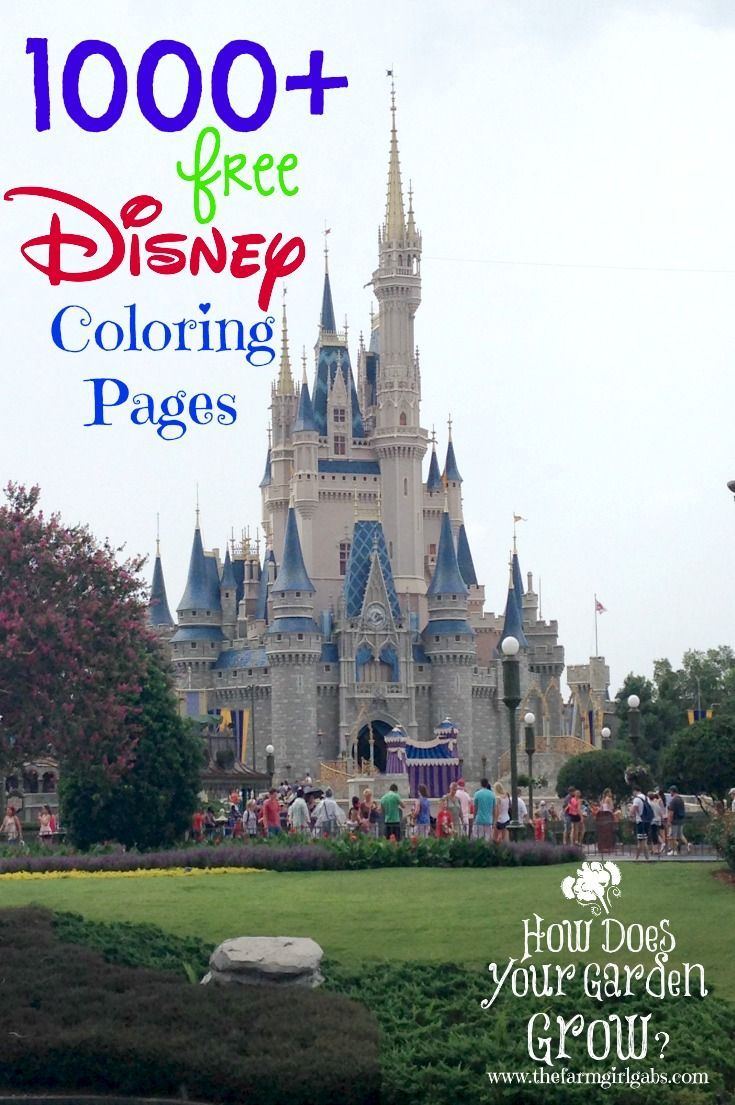 1000+ Free Printable Disney Coloring Pages for kids as seen on www.thefarmgirlgabs.com #DisneySide