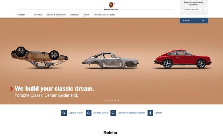 Website Porsche Classic Center Gelderland