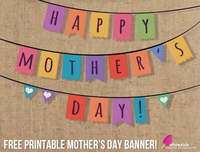 printable free mother s day banner would be cute to hang outside the classroom on mothers day. Black Bedroom Furniture Sets. Home Design Ideas