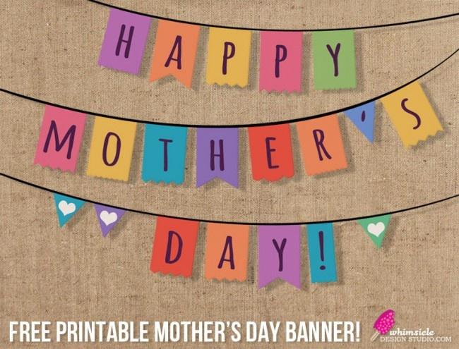 Printable: Free Mother's Day Banner   Printables   Pinterest