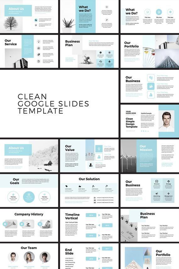 Clean Minimal Business Google Slides Presentation Template