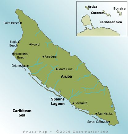 Aruba Map. Find helpful infromation on the map of Aruba and start planning your vacation to the Caribbean.