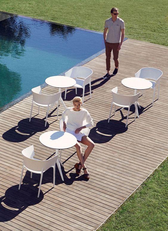 MARI-SOL Треножный Круглый Обеденный Стол для Профессионалов. Высококачественная Мебель, подходящая для использования как в помещении, так и вне его. Европейский Дизайн. Найдите вдохновение для Вашего Бара, Кафе, Ресторана!  #barazzi #дизайн #для улицы #стол