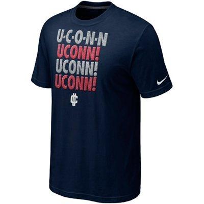 $25 Nike UConn Huskies The Elite Motto T-Shirt - Navy Blue